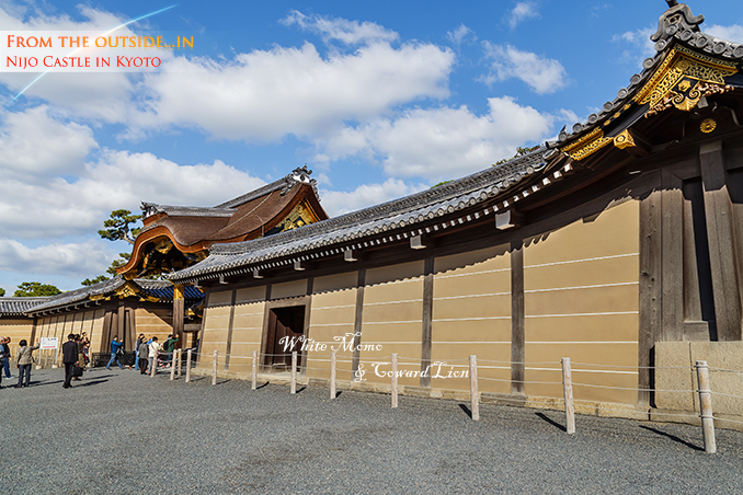 Nijo Castle in Kyoto, Japan KYOTO, JAPAN - OCTOBER 23: Nijo Castlein Kyoto, Japan on October 23, 2014. A flatland castle, one of the seventeen assets of Historic Monuments of Ancient Kyoto which is designated by UNESCO as a World Heritage Site