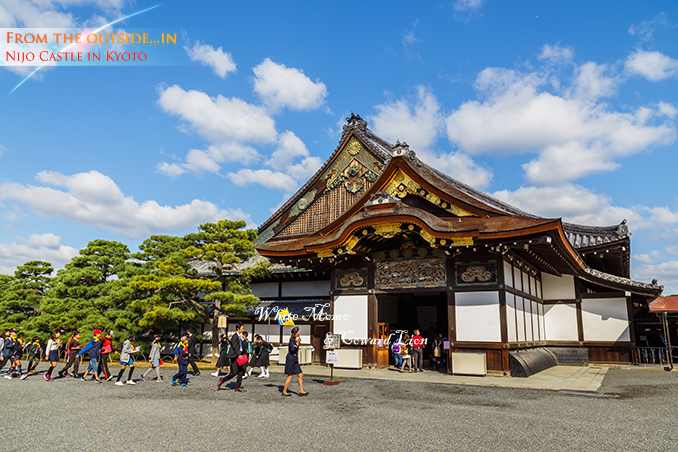 Ninomaru Palace at Nijo Castle in Kyoto, Japan KYOTO, JAPAN - OCTOBER 23: Nijo Castlein Kyoto, Japan on October 23, 2014. A flatland castle, one of the seventeen assets of Historic Monuments of Ancient Kyoto which is designated by UNESCO as a World Heritage Site
