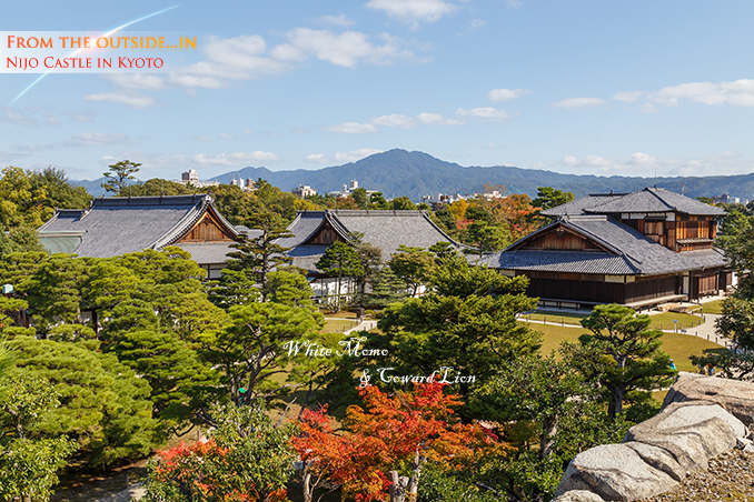 Honmaru Palace at Nijo Castle in Kyoto, Japan KYOTO, JAPAN - OCTOBER 23: Nijo Castlein Kyoto, Japan on October 23, 2014. A flatland castle, one of the seventeen assets of Historic Monuments of Ancient Kyoto which is designated by UNESCO as a World Heritage Site