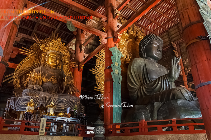 Nara, Japan - November 16 2013: Daibutsu-den houses the world's