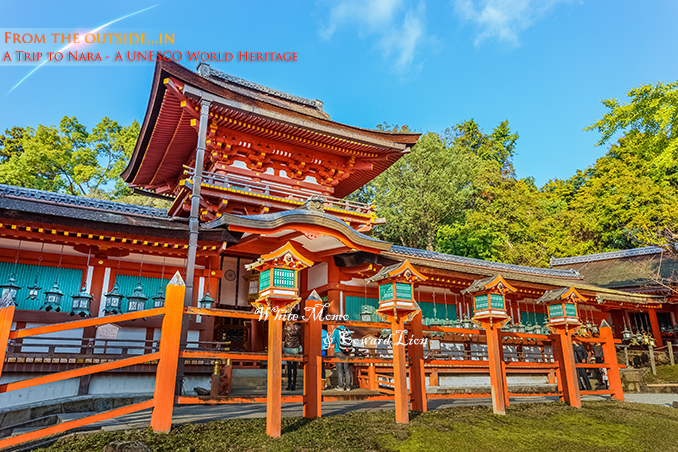 NARA, JAPAN - NOVEMBER 16: Kasuga Taisha in Nara, Japan on November 16, 2013. Established in 768, rebuilt several times over the centuries. Famous for its many bronze lanterns and many stone lanterns that lead up the shrine